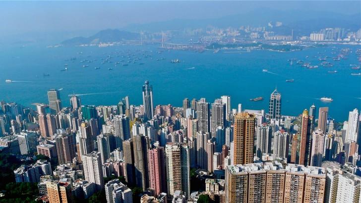 skyline hongkong skyscrapers