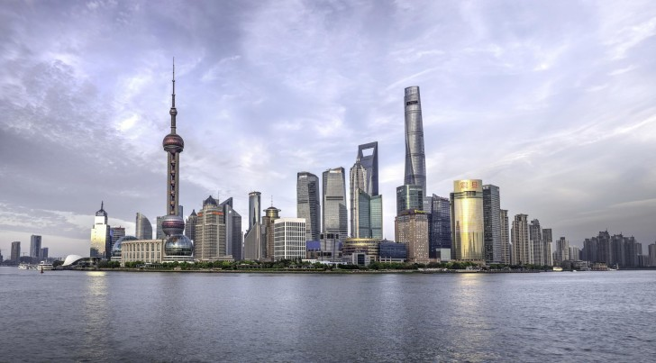 skyline shanghai skyscrapers