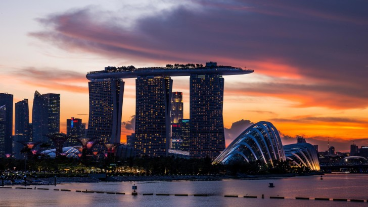 skyline and skyscrapers singapore